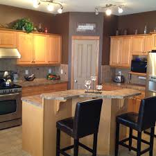 maple kitchen cabinets and wall color kitchen remodel idea for