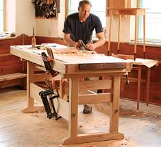 Build Wood Workbench Plans by A Workbench 30 Years In The Making Home Sweet Home Pinterest