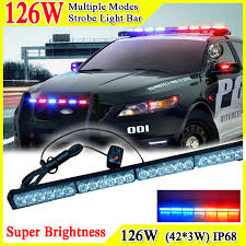 41inch 126w car roof led strobe lights bar emergency