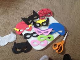 diy super hero masks made from foam sheets time consuming but