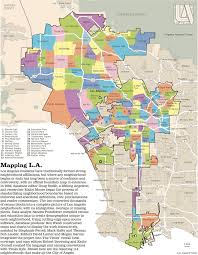 Map Los Angeles Maptitude1 This Map Shows The Many Neighborhoods Of The Sprawling
