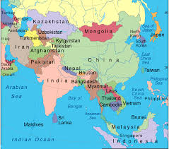 asia map with labels asia map with country names major tourist attractions maps