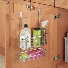 Cabinet Door Basket Axis Chrome Cabinet Storage Basket And Tray In Cabinet Door
