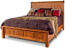 Solid Wood Sleigh Bed Top Furniture Northern Nh Daniel U0027s Amish Solid Wood Bedroom