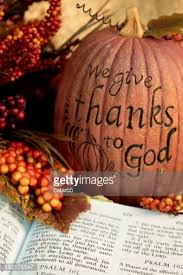 religious thanksgiving bible scripture with fall leaves berries
