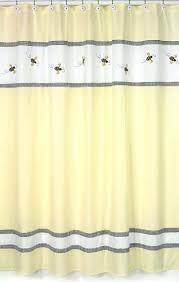 Yellow And White Shower Curtain Yellow Gingham Shower Curtain Bumble Bee Shower Curtain By Sweet