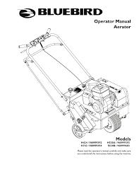 bluebird h530a operator s manual