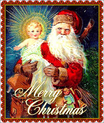 santa and baby jesus santa holding the baby jesus this is an postcard that flickr