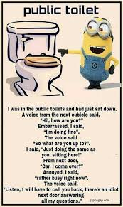 Meme Funny Quotes - funny minion meme about public toilet funny funny minion