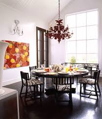Size Of Chandelier For Dining Table Round Chandelier Dining Room Editonline Us