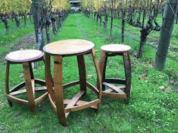 Valley Bar Table Barrelhead Bistro Set Wine Barrel Furniture Napa Valley Bar