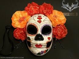 day of the dead masks día de muertos day of the dead flower masquerade
