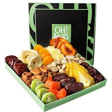 fruit gift basket nut and dried fruit gift basket healthy gourmet snack