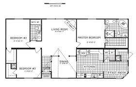 3 bedroom floor plan c 9810 hawks homes manufactured
