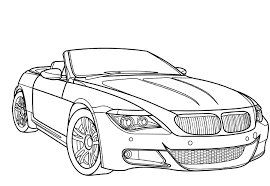 racing car bmw m6 coloring page luhur hati