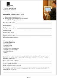 medication incident report form template medication administration 1