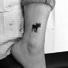 best trends small moose black ink tattoos for on lower