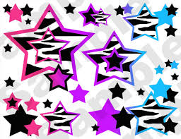 Wallpaper Borders For Girls Bedroom Rainbow Zebra Stars Wall Border Decals Decor Teen Girls Abstract