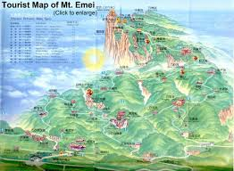 North China Plain Map by Leshan Mt Emei Sichuan