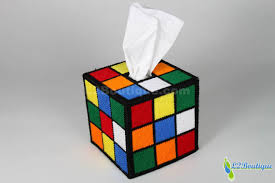 the original best selling rubik s cube tissue box cover