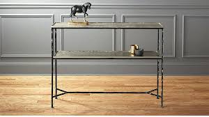 wood and metal console table with drawers wood metal console table smovie info