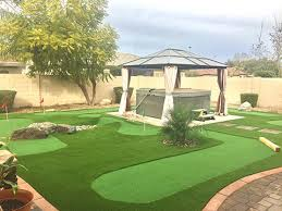 Putting Turf In Backyard Backyard Putting Green Phoenix Artificial Putting Green Turf Az