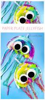 paper plate jellyfish craft paper plate jellyfish crafty kids