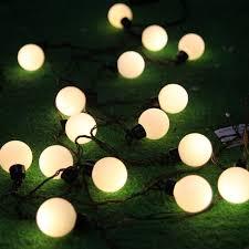 novelty outdoor lighting3cm big size led string ls black
