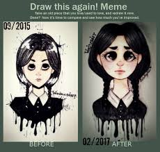 Wednesday Addams Meme - wednesday addams before after by madpan98 on deviantart