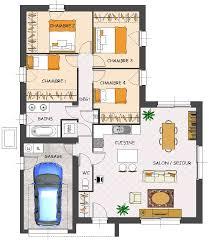 plan de maison plain pied 4 chambres maison toit plat prix au m2 6 plan de maison plain pied 4