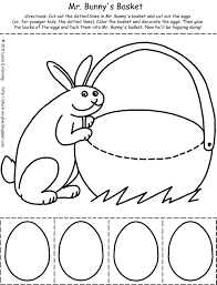 easter bunny baskets free printable easter bunny crafts easter bunny holding basket bw