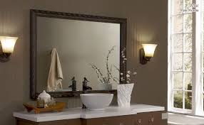 Framing Existing Bathroom Mirrors by Texan Mirror Makeovers Dress Up Your Bathroom Mirror Today