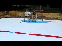 Backyard Hockey Rink by Super Glide Synthetic Ice Backyard Hockey Rink Youtube
