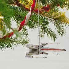 wars x wing starfighter sound ornament with light