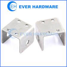 Bed Frame Connection Hardware U Mounting Bracket Heavy Duty U Bracket Hardware For Furniture