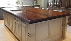 heritage wood island in black walnut modern kitchen countertops