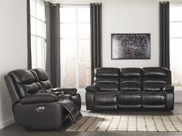 pillement metal gray power reclining sofa from ashley coleman