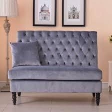 bedroom loveseat loveseat velvet modern tufted settee bench bedroom sofa high back