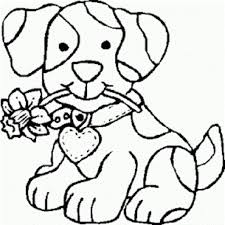 printable coloring pages girls cartoon puppy coloring