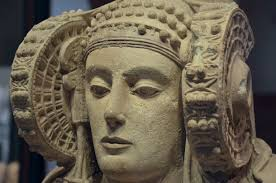 file the lady of elche once polychrome stone bust discovered by