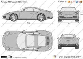 2017 black porsche 911 turbo the blueprints com vector drawing porsche 911 turbo s 991 2