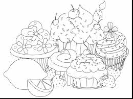 great cake coloring pages printable with cupcake drawing coloring
