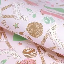 eiffel tower wrapping paper pink eiffel tower wrapping paper for kids woman gift