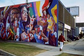 sports murals for bedrooms community youth sports and arts foundation 488 crenshaw boulevard