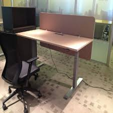 Small Reception Desk Height Adjustable Standing Reception Desk Half Round Office Small