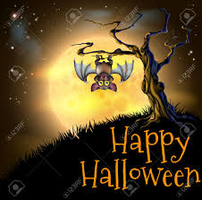halloween background vector free a spooky scary orange halloween background scene with vampire