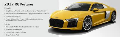2017 audi r8 model features specifications chicago car leasing
