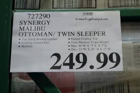 Ottoman Price Ottoman Sleeper Bed Synergy Sleeper Ottoman Price Leather