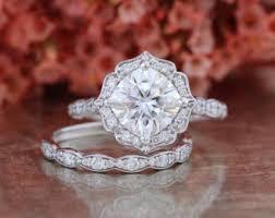 scalloped engagement ring custom made engagement ring bridal set wedding by lamoredesign