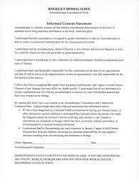 aromatherapy informed consent statement